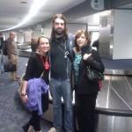 Kasey, Ryan and Kim at San Francisco airport.