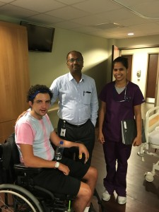 Dr. Prasad, my discharge nurse and I.